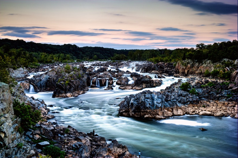 Great Falls, VA at Sunset